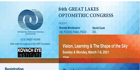 84 GREAT LAKES  OPTOMETRIC CONGRESS Vision, Learning & The Shape of the Sky tickets