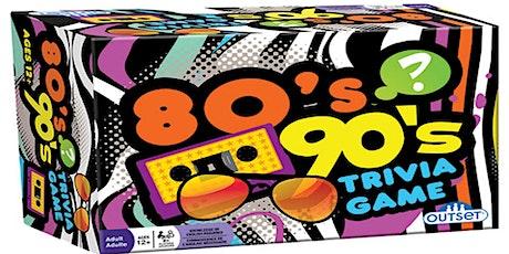 80s & 90s Trivia  Fundraiser (live host) via Zoom (EB) tickets