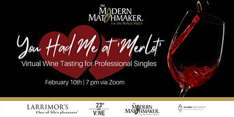 Virtual Wine Tasting for Professional Singles tickets