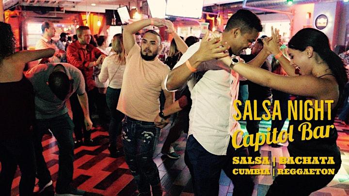 Salsa Night! Salsa, Bachata, Reggaeton Party at Capitol Bar 03/06 image