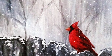 Online Adults Paint Night -Northern Red Cardinal tickets
