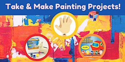 Take & Make Painting Kits (Treasure/Plane Bank & Note Holder) – Ages 4-12