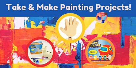 Take & Make Painting Kits (Treasure/Plane Bank & Note Holder) - Ages 4-12 tickets