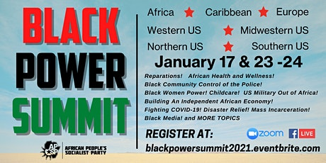 The Black Power Summit: US, Caribbean, Africa, and Europe ingressos