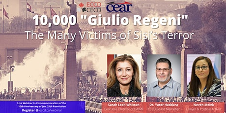 "10,000 ""Giulio Regeni"": The Many Victims of Sisi's Terror tickets"
