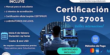 Curso de Certificación en Gestión y Normativas en Ciberseguridad ISO:27001 entradas