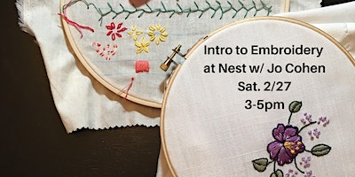 Intro to Embroidery w. Jo Cohen