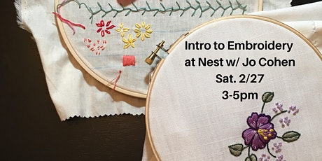 Intro to Embroidery w. Jo Cohen tickets