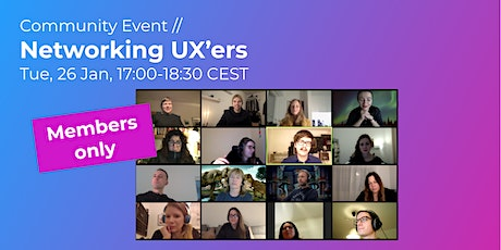 Networking UX'ers // CPHUX Members only tickets