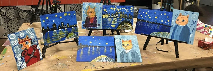 Acrylic Painting for Kids - LIVE Virtual Art Class image