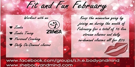 Fit and Fun February Saturday Zumba tickets