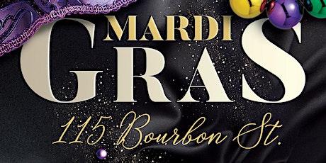 Mardi Gras 2021 at 115 Bourbon Street tickets