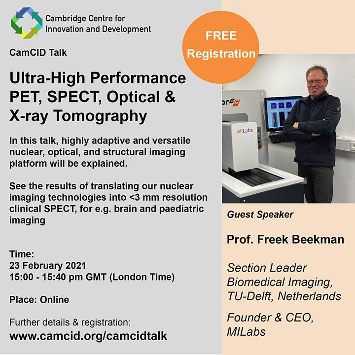 Ultra-High Performance PET, SPECT, Optical & X-ray Tomography image