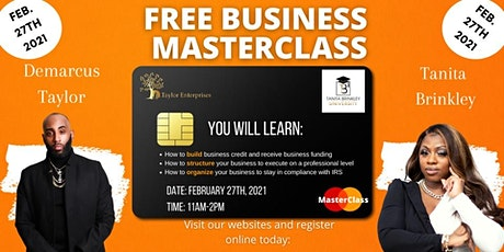 Free Business Master Class tickets