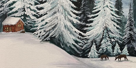 Winter Hunting Cabin Painting 2/27 at Sapsucker Farms tickets