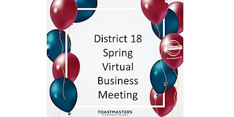 2021 District 18 Spring Virtual Business Webinar tickets