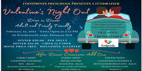 Footprints Preschool Valentine's Night Out with Drive In Dinner tickets