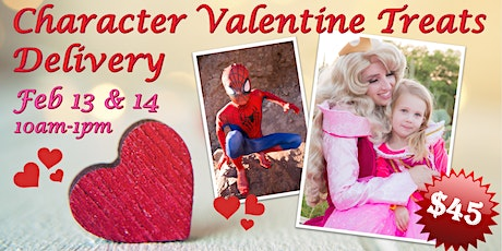 Character Valentine Treats Delivery tickets