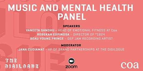The Digilogue x Coa present the Music and Mental Health Panel - 1/27 tickets