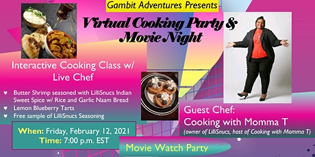 Virtual Cooking Party & Movie Night tickets