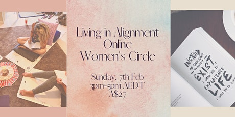 Living in Alignment Online Women's Circle tickets