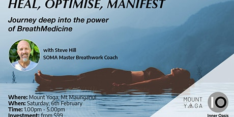 BreathMedicine Workshop - HEAL, OPTIMISE, MANIFEST | Mount Maunganui tickets