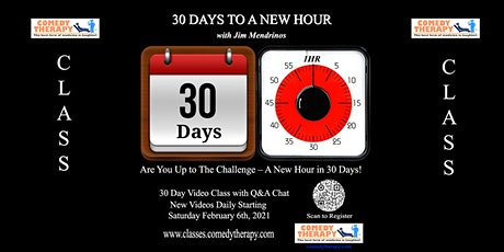 30 Days to a New Hour with Jim Mendrinos tickets