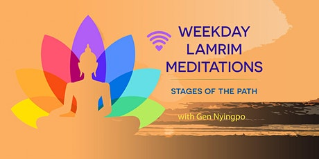 Online weekday stages of the path meditations tickets