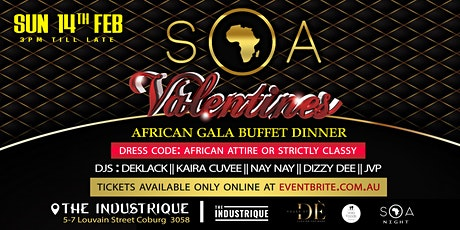 SOA Valentine African Gala Dinner & Party tickets