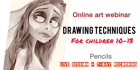 Learn to Draw and Shade with Pencils - Art webinar for Kids 10-13 tickets