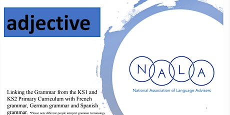 Resource Launch Event (Primary Sector) - Grammar in the National Curriculum tickets