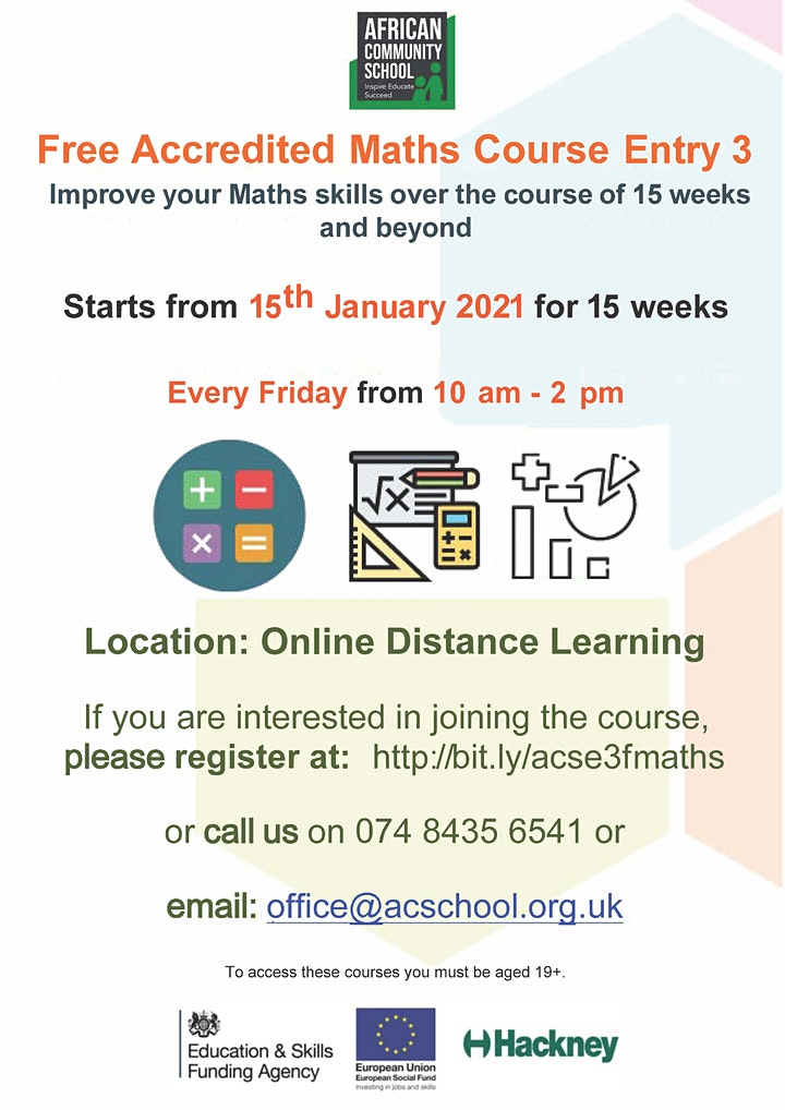 Accredited Functional Skills Maths E3 ( FREE Online Course) image