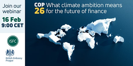 COP26:  What climate ambition means for the future of finance tickets