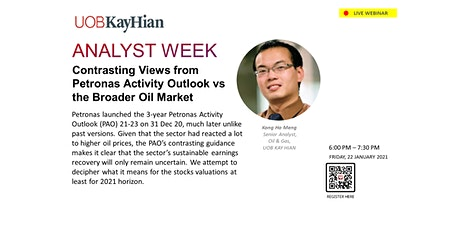 (LIVE WEBINAR) Analyst Week MY: Oil and Gas Sector tickets