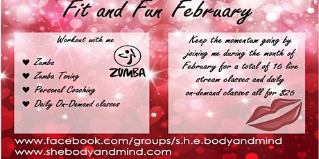 Fit and Fun February Zumba Tues/Thurs billets