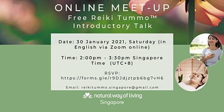 Free Reiki Tummo™ Introductory Talk on 30 January 2021 tickets