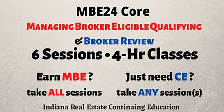 LIVE ONLINE MBE24 Core Managing Broker Eligible Qualifying & Broker Review tickets