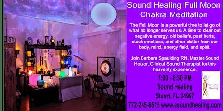 Sound Healing Full Moon Chakra Meditation tickets