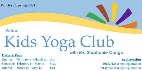 Kids Yoga Grades 1-4:  Winter & Spring 2021 tickets