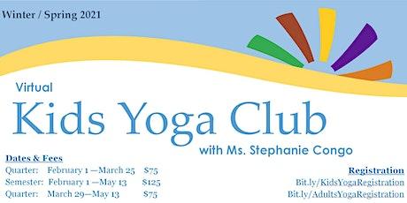 Kids Yoga Grades 5-8:  Winter & Spring 2021 tickets