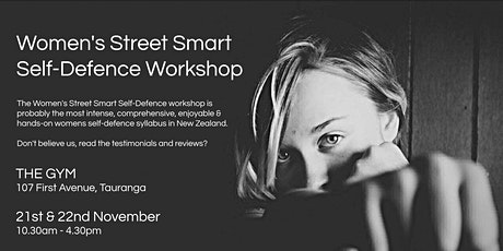 Women's Street Smart Self-Defence Workshop - The Gym, Tauranga Apr 2021 tickets
