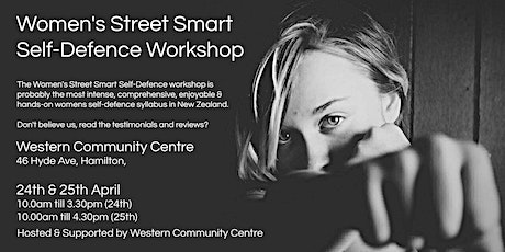 Women's Street Smart Self-Defence Workshop - Hamilton Apr 2021 tickets