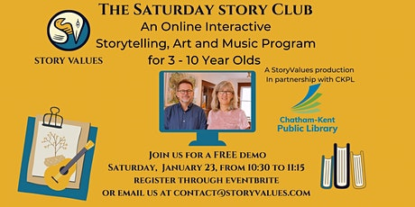 The Saturday Story Club  FREE Demo Class January 23, 10:30 -11:15 tickets