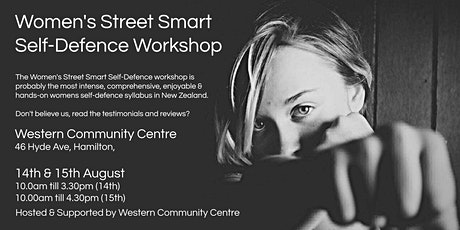 Women's Street Smart Self-Defence Workshop - Hamilton Aug 2021 tickets