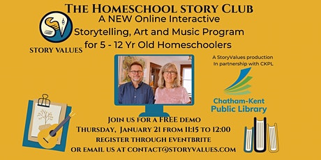 The Homeschool Story Club  FREE Demo Class January 21, 11:15-12:00 tickets