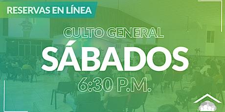 Culto Presencial Sábado/ 23 Enero / 6:30 pm boletos