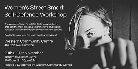 Women's Street Smart Self-Defence Workshop - Hamilton Nov 2021 tickets