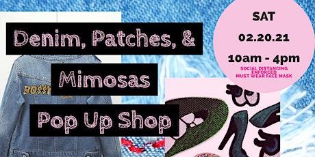 Denim Patches & Mimosas Pop Up Shop tickets