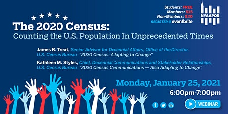 The 2020 Census: Counting the U.S. Population In Unprecedented Times tickets