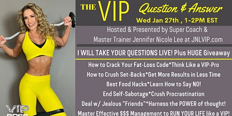 LIVE Q & A with Fitness Expert, Motivational Coach Jennifer Nicole Lee tickets